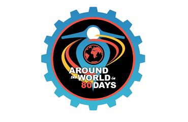 Logo - 80 Tage um die Welt auf der Vespa